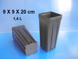 Pots 9 X 9 X 20 cm